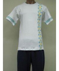 Футболка Гербы вышивка мужская интерлок NCL612