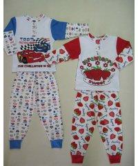 Пижама с двойным рукавом накат интерлок NCL781