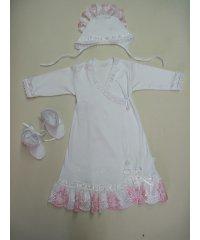 Плаття крестильное интерлок,кружево  NCL580