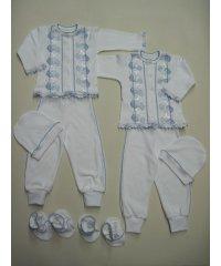Крестильный костюм мальчик 4 предмета интерлок NCL577
