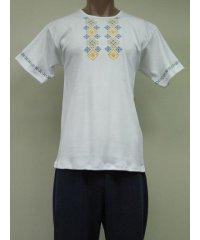 Футболка мужская вышивка интерлок NCL614