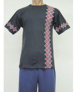 Футболка мужская Орнамент вышивка интерлок NCL638