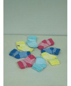 Шкарпетки летние 12шт в упак. Турция от 0-1 года NCL734