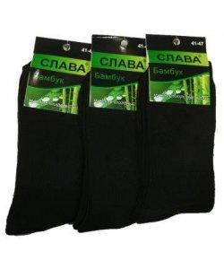 """Махровые мужские Шкарпетки """" Слава """" бамбук,черные"""