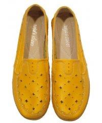 "Мокасины летние "" Zojas Shoes "" 8202/1 Yellow штучно"