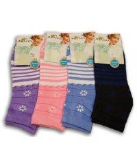 "Шкарпетки женские низкие ""Алия"", №307 снежинка"