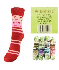"Шкарпетки женские ""Корона"" В2517 Сердечки"